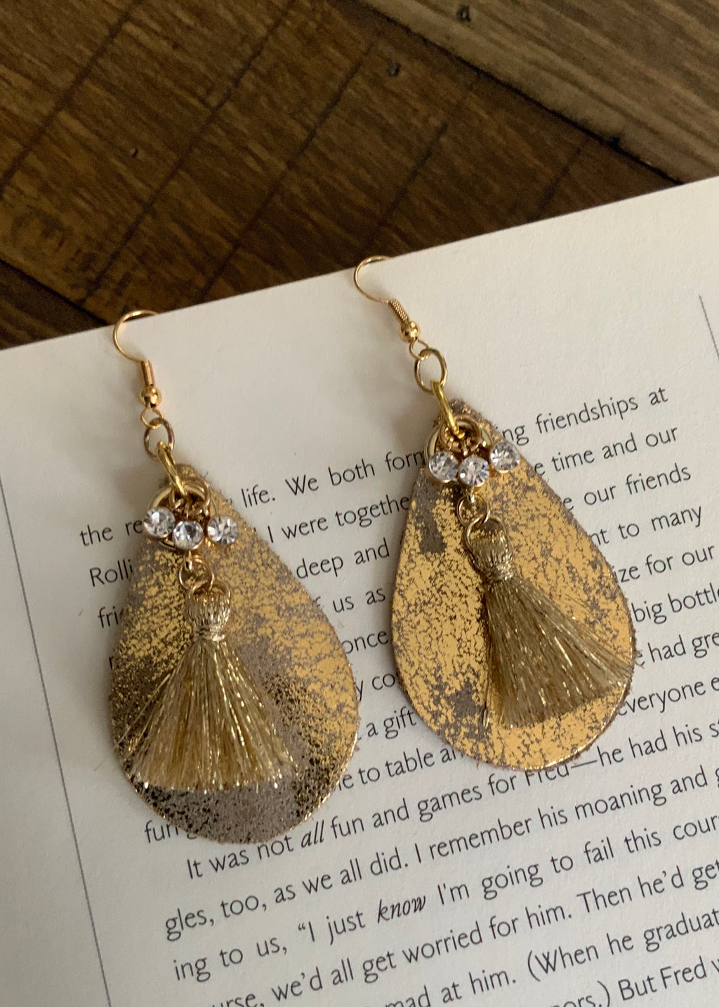 Ritzy Glitzy Earrings-Gold