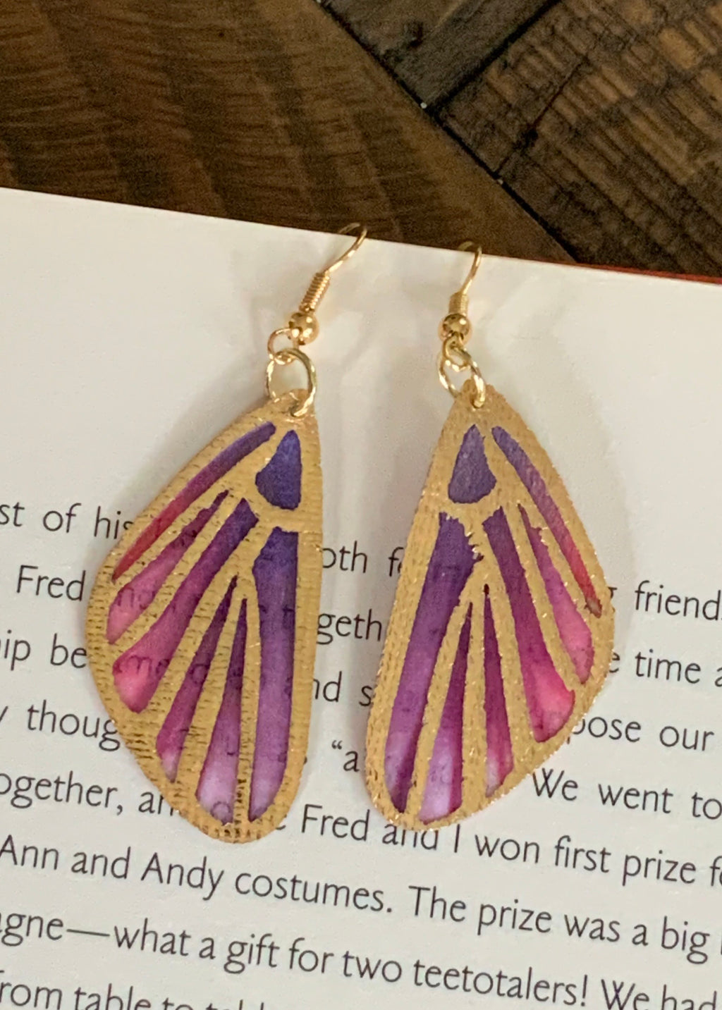 Mariposa Earrings-Purple