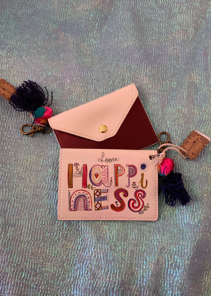 Choose Happiness Card Holder Fob