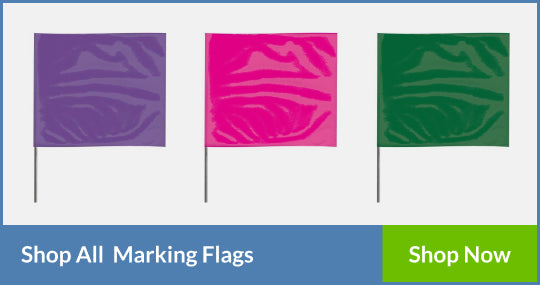 Solid Color Marking Flags