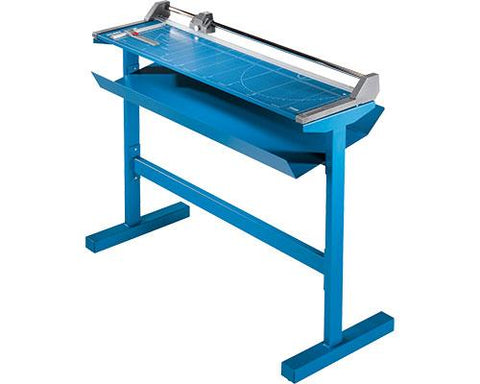 "Dahle 51 1/8"" Cut Length Professional Large Format Rolling Trimmer with Stand - 558s"