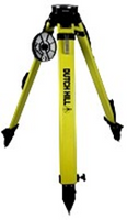 Dutch Hill Quick Clamp Heavy-Duty Surveyors Fiberglass Tripod w/ Round Aluminum Head - DH01-018-QC