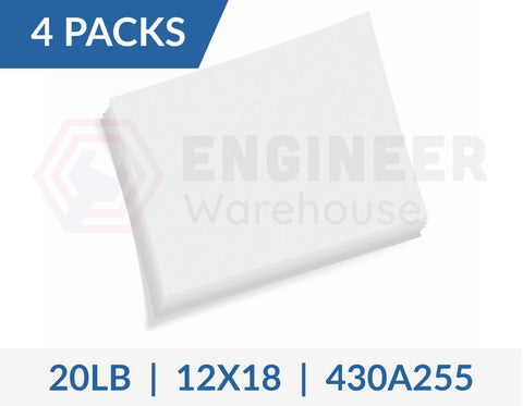 "Dietzgen 12"" x 18"" Sheets 430 20LB Engineering Bond Paper - 4 Packs per Carton - 430A255"