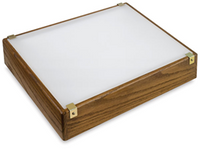 "Gagne 12"" x 14"" Porta-Trace Solid Oak w/ LED Lighting - 1214LPO LED"