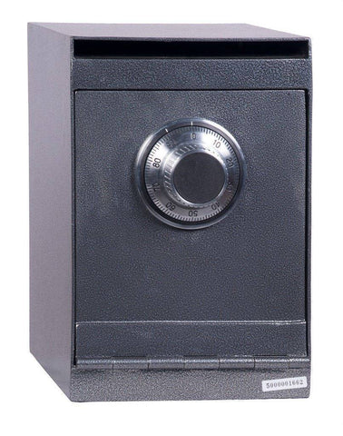 "Hollon Safe 12"" x 8"" x 10"" Drop Safe (Gray) - HDS-03C"