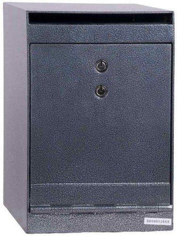 "Hollon Safe 12""H X 8""W X 10""D Drop Safe (Gray) - HDS-03K"