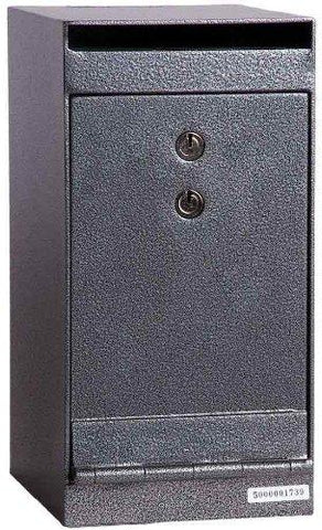 "Hollon Safe 12"" x 6"" x 8"" Drop Safe (Gray) - HDS-01K"