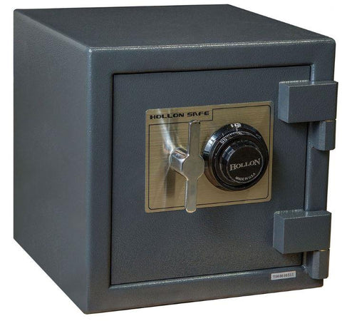"Hollon Safe 14"" x 14"" x 14"" B-Rated Cash Safe (Gray) - B1414C"