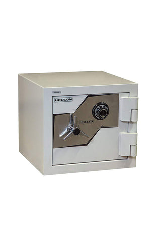 "Hollon Safe Oyster Series 17 3/4"" x 20"" x 20 3/8"" Fire and Burglary Safe (White) - FB-450C"