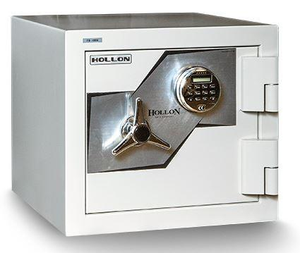 "Hollon Safe Oyster Series 17 3/4"" x 20"" x 20 3/8"" Fire and Burglary Safe (White) - FB-450E"
