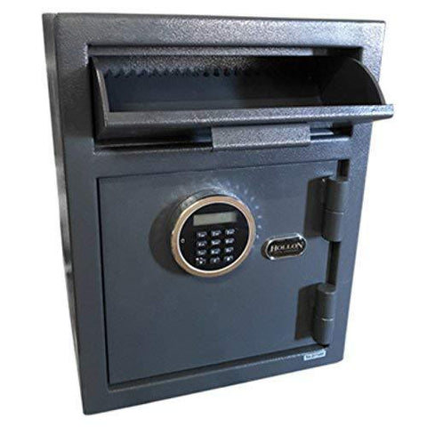 "Hollon Safe 18"" x 13 3/4"" x 11 3/4"" Drop Deposit Slot Safe (Gray) - DP450LK"