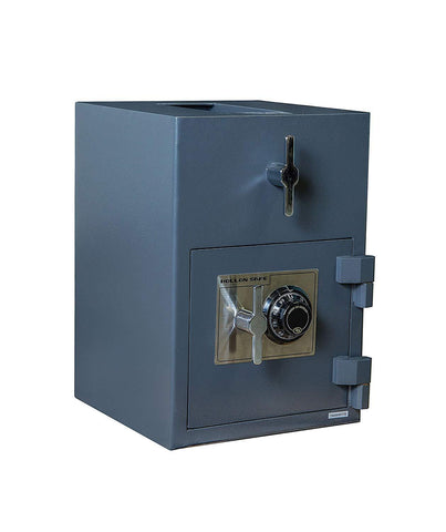 "Hollon Safe 20""H x 14""W x 14""D Rotary Hopper Depository Safe (Gray) - RH-2014C"