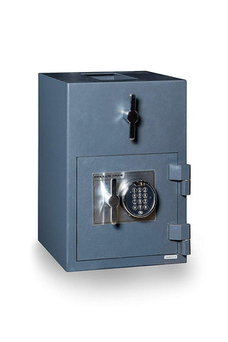 "Hollon Safe 20""H x 14""W x 14""D Rotary Hopper Depository Safe (Gray) - RH-2014E"