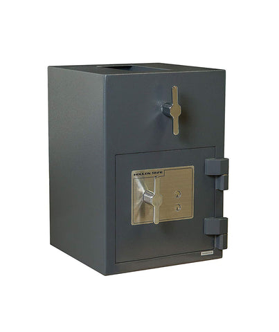 "Hollon Safe 20""H x 14""W x 14""D Rotary Hopper Depository Safe (Gray) - RH-2014K"