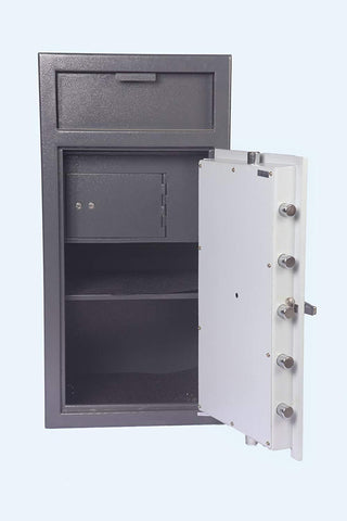 "Hollon Safe 40"" x 20"" x 20"" Depository Safe w/ Inner Locking Compartment (Gray) - FD-4020CILK"