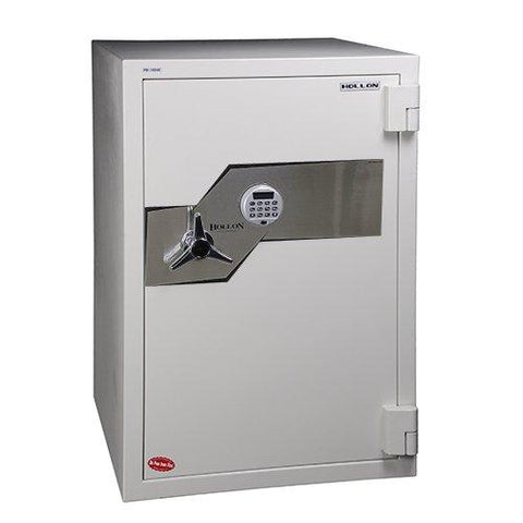 "Hollon Safe Oyster Series 41 1/2"" x 28"" x 29"" Fire and Burglary Safe (White) - FB-1054E"