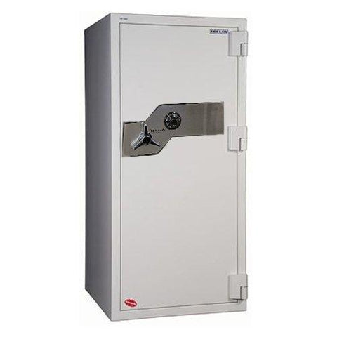 "Hollon Safe 59 1/4"" x 28"" x 29"" Fire and Burglary Safe (White) - FB-1505C"