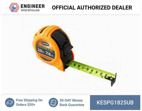 Keson 25' Ultra Bright Blade Short Tape Measure - PG1825UB