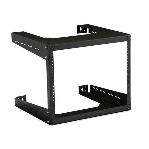 "Kendall Howard 8U 18"" Deep Open Frame Wall Rack - 1915-3-500-08"
