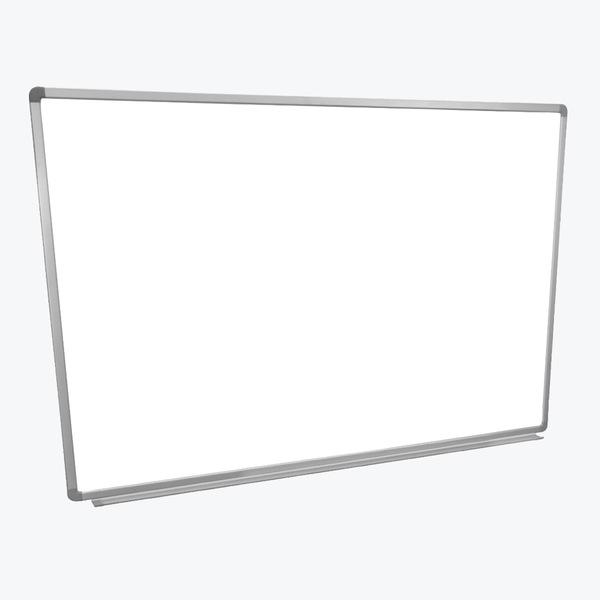 "Luxor 48"" x 36"" White/Silver Wall-mounted whiteboards - WB4836W"
