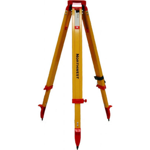 "Northwest Instrument 38"" to 62"" Contractor's Yellow Powder-Coated Dome-Head Tripod w/ Quick Clamp - NAT94"