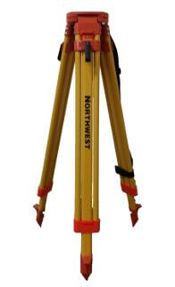 "Northwest Instrument 38"" to 64"" Contractor's Yellow Powder-Coated Flat-Head Tripod w/ Quick Clamp - NAT93"