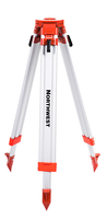 "Northwest Instrument 38"" to 62"" Contractor's Flat-Head Tripod w/ Quick Clamp - NAT83"