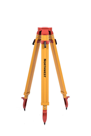 Northwest Instrument Heavy-Duty Yellow Powder-Coated Flat-Head Side-Screw Tripod w/ Wing Nut Clamp - NAT97
