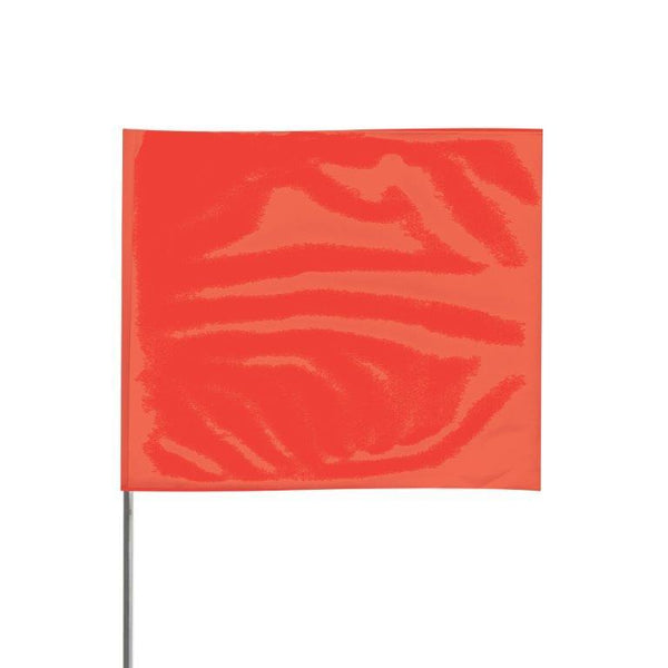"Presco 2"" x 3"" Marking Flag (Red Glo) for 36"" Staff - 2336RG"