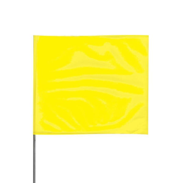 "Presco 2"" x 3"" Marking Flag (Yellow Glo) for 36"" Staff - 2336YG"