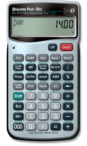 Calculated Industries Qualifier Plus IIIFX Real Estate Finance Calculator - 3430