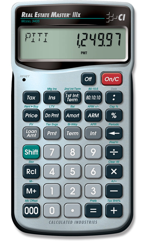 Calculated Industries Real Estate Master IIIX Residential Finance Calculator - 3405
