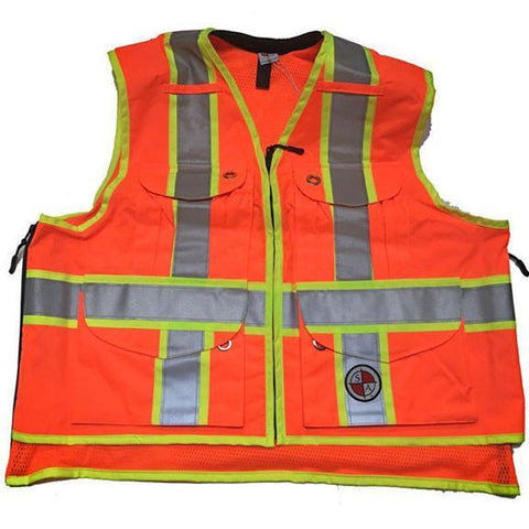 Safety Apparel Party Chief Heavy-Duty Survey Vest Class Large (Orange) - PC13 LARGE ORANGE