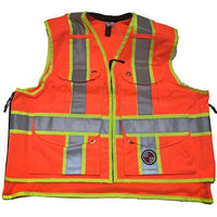 Safety Apparel Party Chief Heavy-Duty Survey Vest Class XL (Orange) - PC13 XL ORANGE