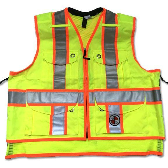 Safety Apparel X-Back Summer Vest Large (Power Yellow) - SVXY LARGE YELLOW