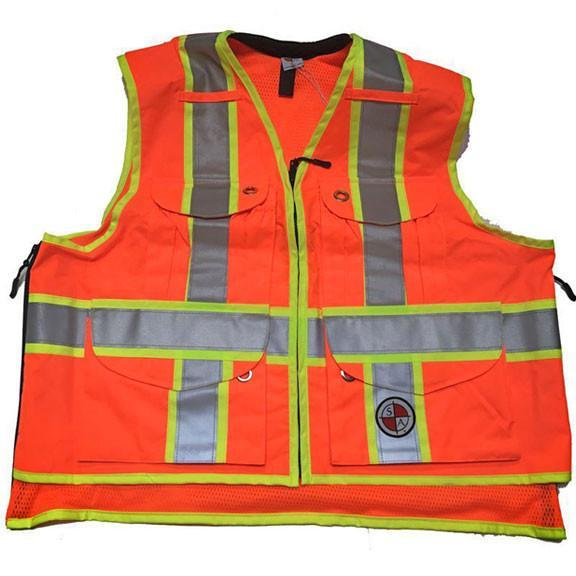 Safety Apparel X-Back Summer Vest XL (Safety Orange) - SVXO XL ORANGE