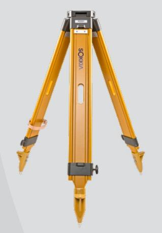 Sokkia Wide-Frame Wood Tripod (Yellow) - 751252