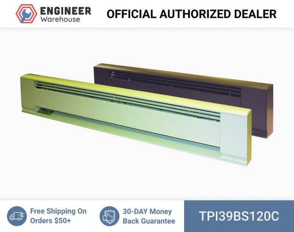 "TPI 120"" Blank Section for Hydronic Baseboard & Architectural Baseboard (Brown) - 39BS120C"