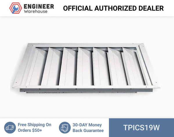 "TPI Joist Out Style Ceiling Shutter for 36"" Fan (34x43) - CS19W"