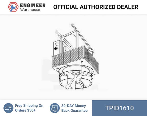 TPI Downflow Unit Heater Radial Louvered Cone Diffuser for 25-50KW Models - D1610