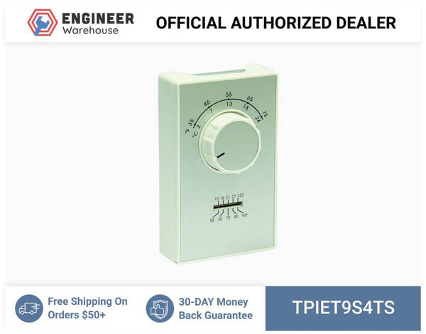 TPI ET9 Series SPST Line Voltage Heat Only Thermostat - ET9S4TS