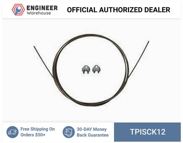 TPI 12' Safety Cable with Clamps for Maximum-Duty Circulators - SCK-12
