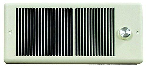 TPI 1000W 120V 4300 Series Low Profile Fan Forced Wall Heater - No Pole Thermostat- White w/ Box - E4310RPW