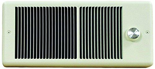 TPI 1000W 120V 4300 Series Low Profile Fan Forced Wall Heater - 1 Pole Thermostat - Ivory w/ Box - E4310TRP