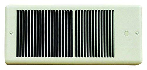 TPI 1500W 120V 4300 Series Low Profile Fan Forced Wall Heater - No Pole Thermostat- Ivory w/ Box - E4315RP
