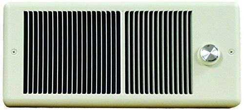 TPI 1500W 120V 4300 Series Low Profile Fan Forced Wall Heater - 1 Pole Thermostat - Ivory w/ Box - E4315TRP