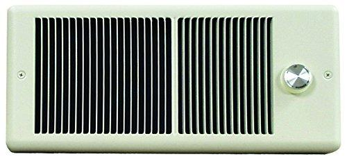 TPI 1500/1125W 240/208V 4300 Series Low Profile Fan Forced Wall Heater - No Thermostat - Ivory w/ Box - HF4315RP