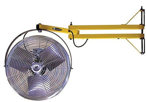"TPI 18"" High Velocity Fan Mounted on 24"" Pivoting Arm - 24LDFTE"