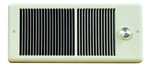 TPI 2000/1500W 240/208V 4300 Series Low Profile Fan Forced Wall Heater - 1 Pole Thermostat - Ivory w/ Box - HF4320TRP