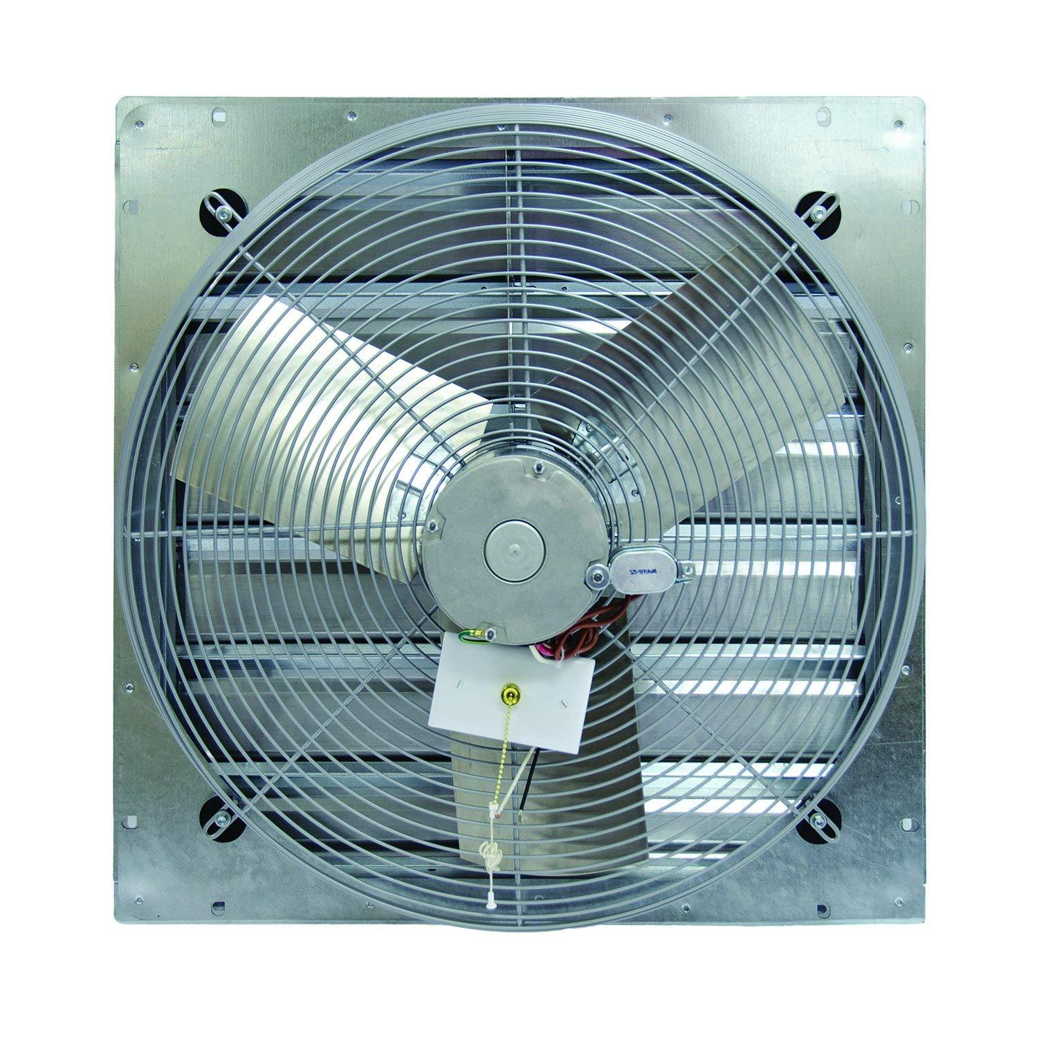 "TPI 20"" 2-Speed 1/4 HP Shutter Mounted Direct Drive Exhaust Fan - CE20DS"
